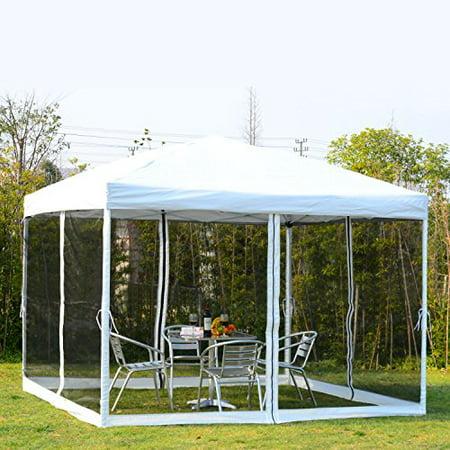 GHP 10x10 Ft. Outdoor Pop up Tent Canopy Gazebo