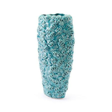 Petals Medium Vase Teal