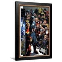 Infinity No. 1: Captain America, Captain Marvel, Iron Man, Black Widow, Thor, Hawkeye, Falcon Framed Poster Wall Art