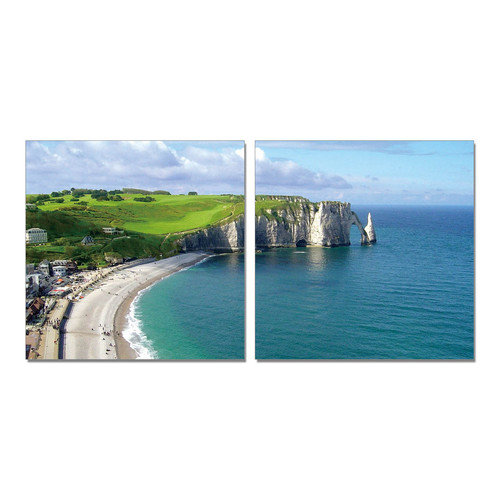 BZB Goods By the Sea Modern 2 Piece Photographic Print