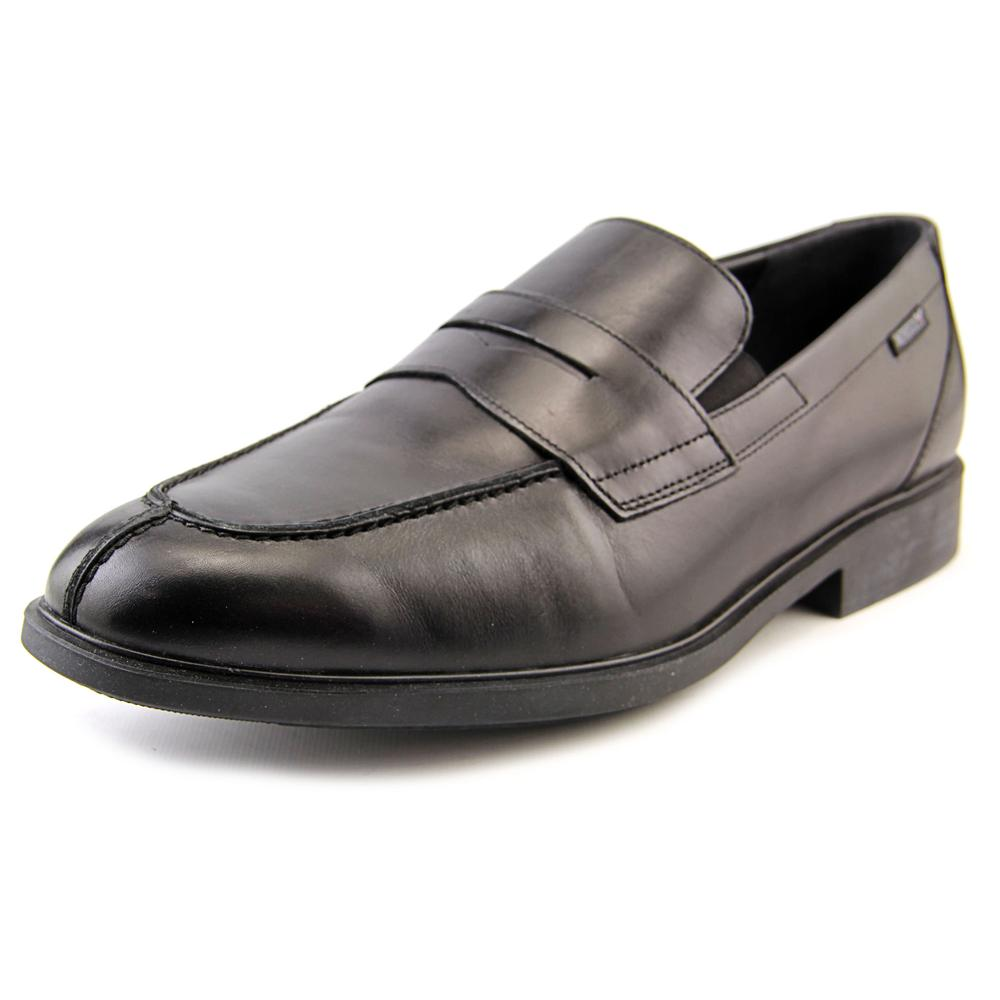 Mephisto Fortino Men Round Toe Leather Black Loafer by Mephisto