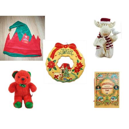 Jingle Moose (Christmas Fun Gift Bundle [5 Piece] -  Elf Hat w/ Jingle Bell - Woodniks