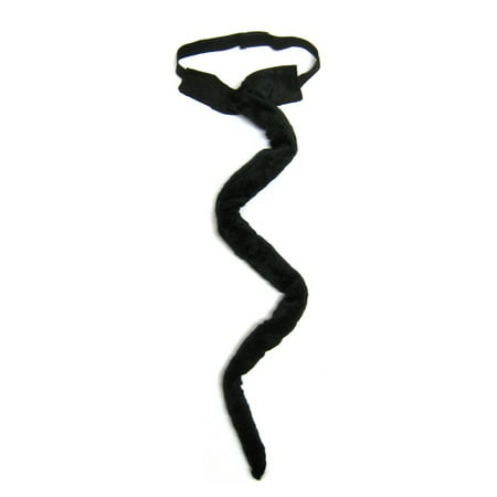 SeasonsTrading Long Black Plush Cat Tail Costume - Halloween Cosplay Party - Rainbow Loom Halloween Black Cat