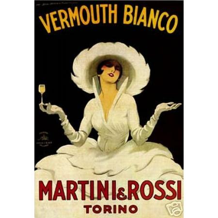 Martini & Rossi Poster By Marcello Dudovich New 24x36