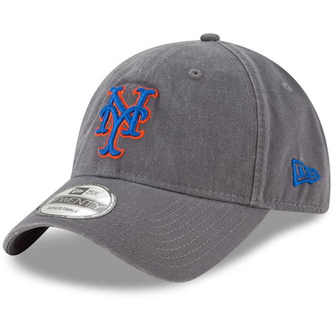 New York Mets New Era Primary Logo Core Classic 9TWENTY Adjustable Hat - Graphite - OSFA