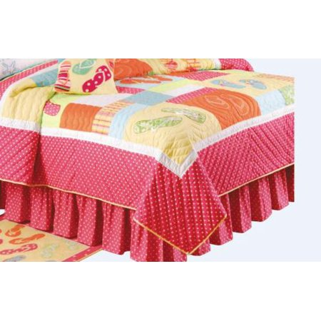 72d6327ff8e0 Colorful Flip Flops on the Beach Quilted Full or Queen Size Bed Quilt -  Walmart.com
