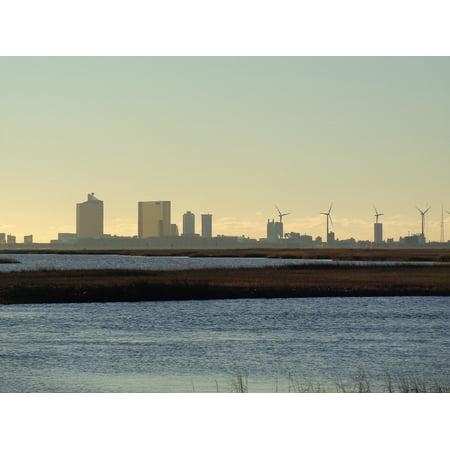Framed Art For Your Wall Town City Atlantic City Coast 10x13 - Party City Atlantic