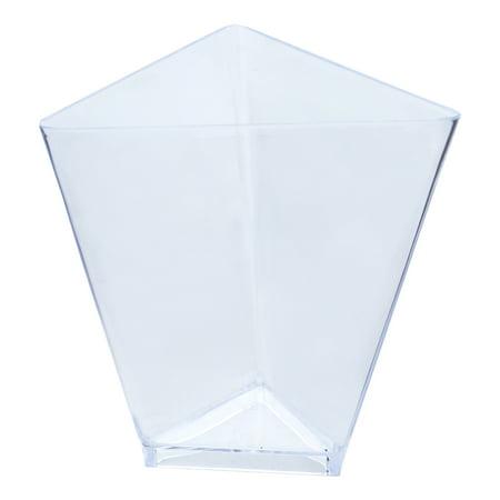 Efavormart 60 Pcs - Clear Triangular 2oz Disposable Plastic Dessert Cup
