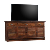 """Sauder Harbor View TV Stand for TVs up to 70"""", Curado Cherry Finish"""