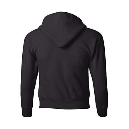 Hanes P473 Youth Comfortblend Ecosmart Pullover Hood Sweatshirt, Black, Small - image 1 de 3