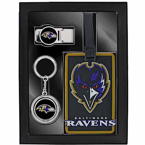 Sports 3-Piece Travel Fan Pack, Ravens