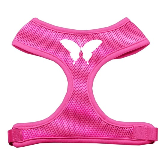 Butterfly Design Soft Mesh Harnesses Pink Small