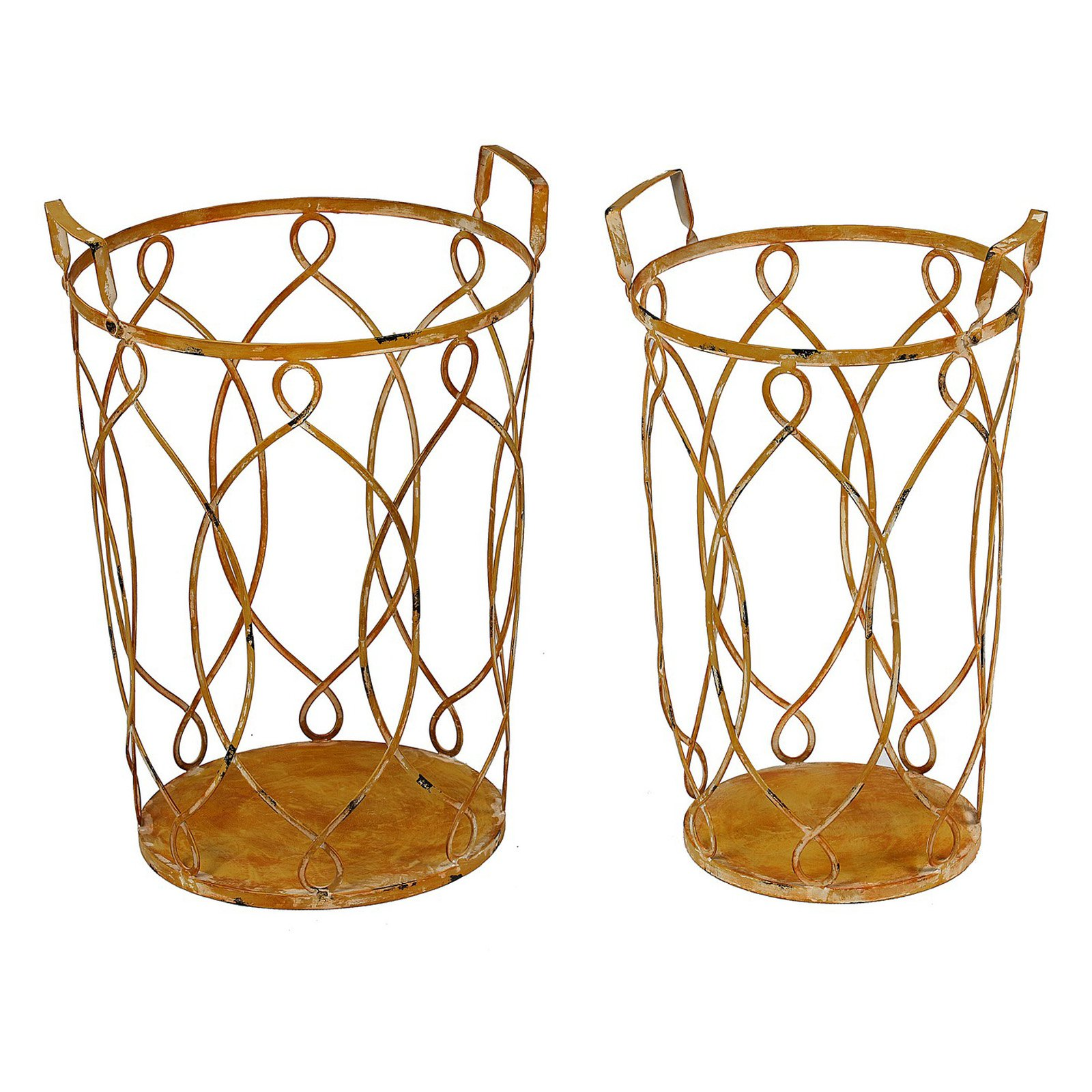 Privilege International 2 Piece Iron Planters
