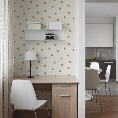 RoomMates Gold Dots Peel & Stick Wallpaper