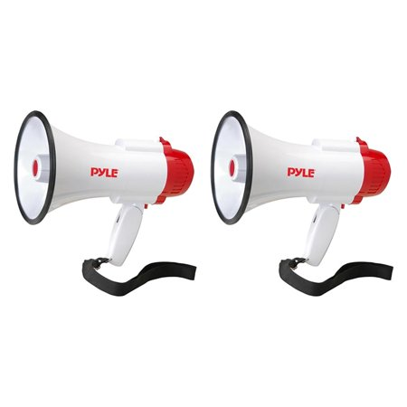 Pyle Pro Megaphone Bull Horn with Siren and Voice Recorder, 2 Pack | PMP35R](Megaphones For Sale)