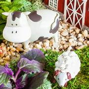 Evergreen Enterprises, Inc 2 Piece Farm Animals Mini Garden Set