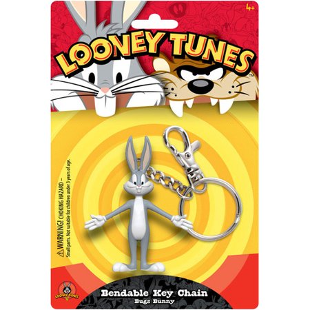 Bugs Bunny Accessories (BUGS BUNNY BENDABLE KEY CHAIN)