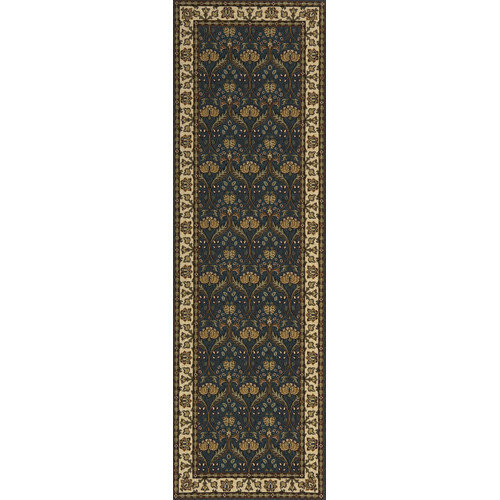 Momeni Persian Garden Teal Blue Light Yellow Area Rug