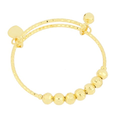 American Designs 14K Gold-Plated Bangle Bracelet Expandable Adjutsable Baby Kids Jewelry