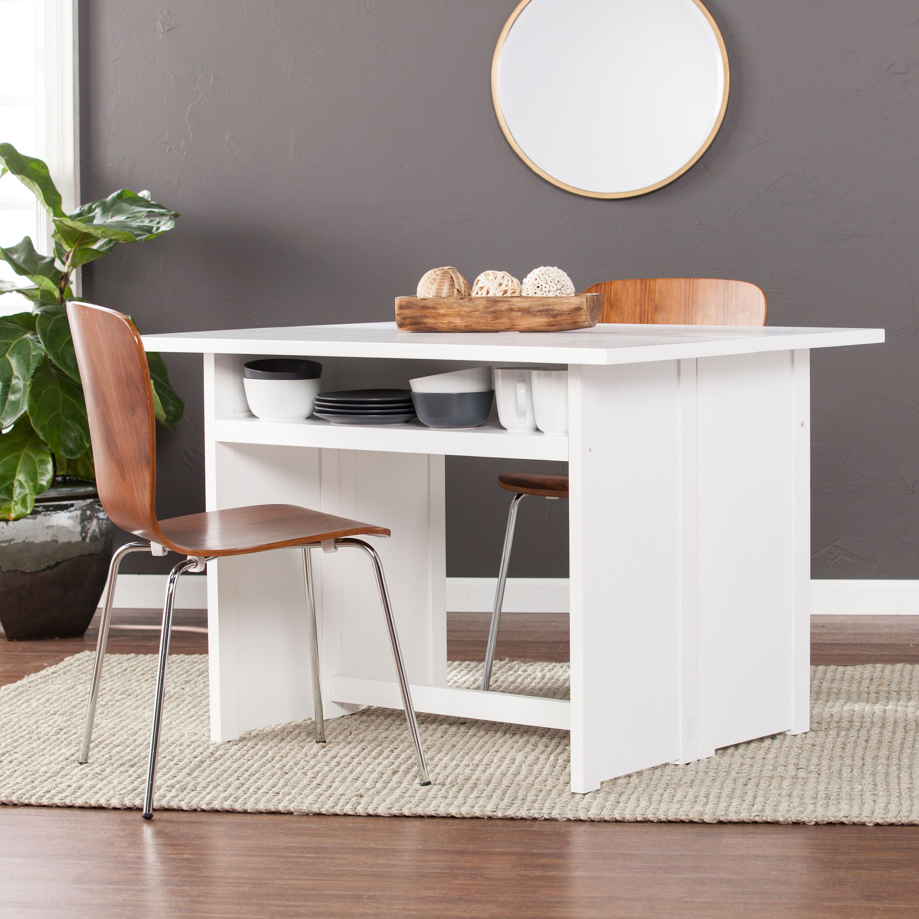Southern Enterprises Kabrine Convertible Console To Dining Table