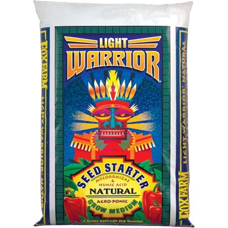 FoxFarm FX14083 Light Warrior Soilless Mix Bag, 1 cu. ft., Ultimate grow medium for seed starting and transplanting By Fox