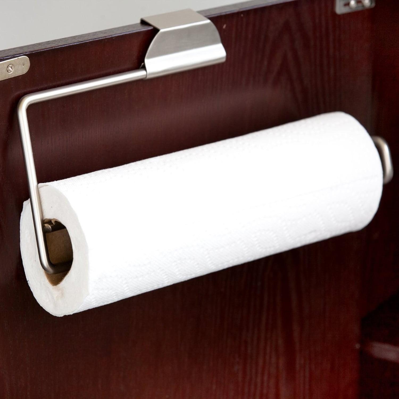 Home Basics Over The Door Steel Paper Towel Holder