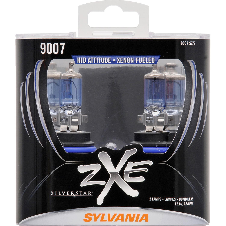 SYLVANIA 9007 SilverStar zXe Halogen Headlight Bulb, Pack of 2