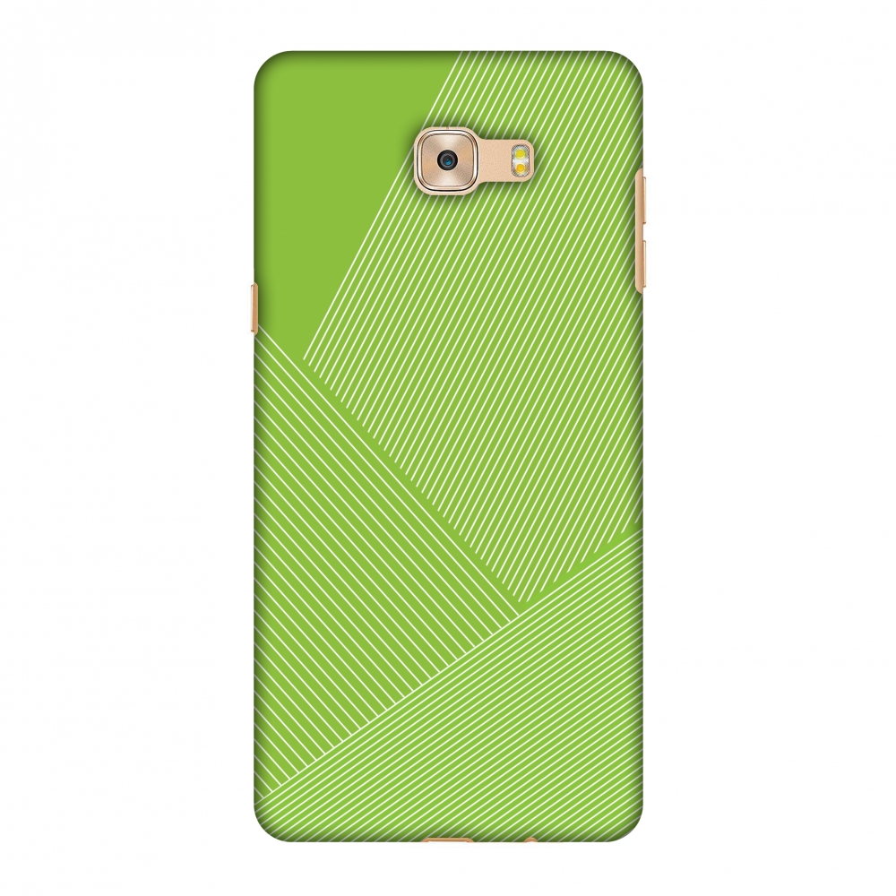 Galaxy C7 Pro Case, Premium Handcrafted Designer Hard Shell Snap On Case Printed Back Cover with Screen Cleaning Kit for Samsung Galaxy C7 Pro, Slim, Protective - Carbon Fibre Redux Pear Green 1