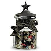 Black Star Small Glass Jar