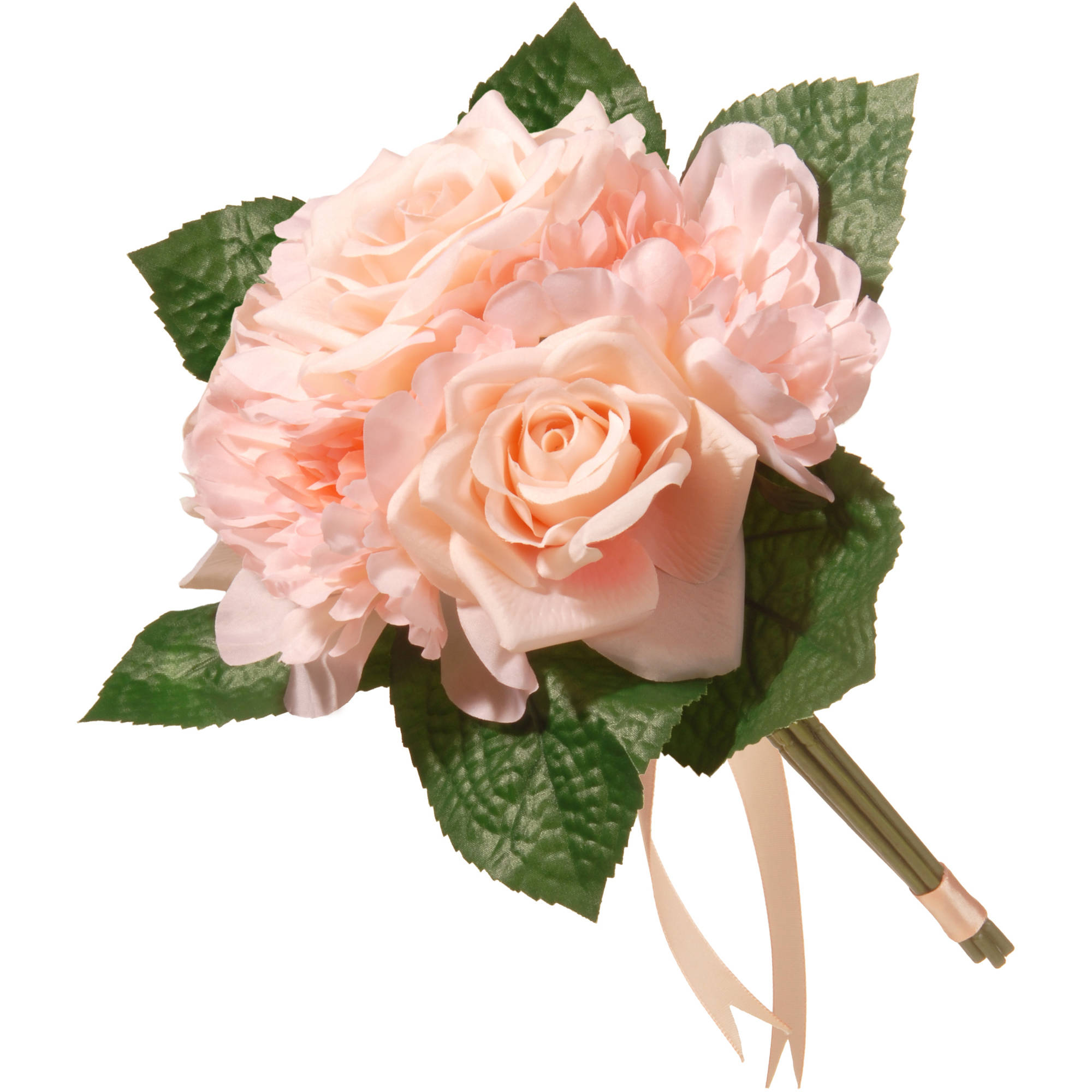 "12.2"" Peach Rose and Peony Bundle"