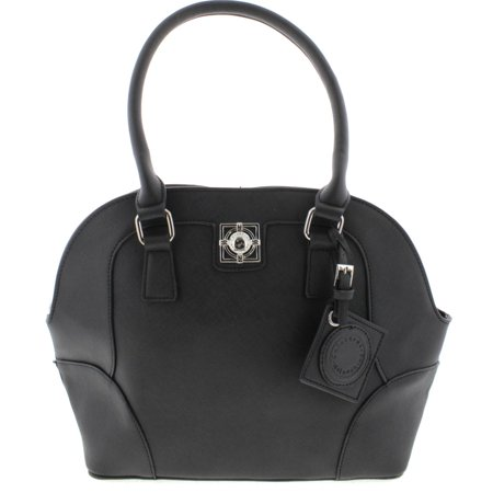 Catherine Malandrino Womens Callie Faux Leather Rolled Handles Satchel Handbag