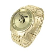 Gold Tone Shriner Watch Mens Roman Numeral Dial Vintage Stainless Steel Back