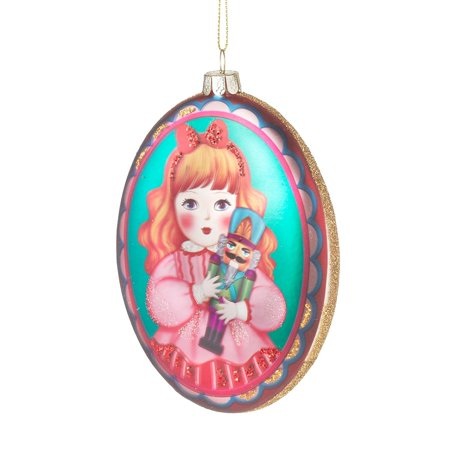 Clara from The Nutcracker Ballet Glass Dance Christmas Tree Ornament, Made of traditional glass material By Midwest-CBK Ship from - Dance Ornaments
