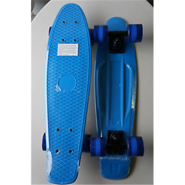 Three Whys RE-2206BUBKBU22 New Rekon Black - Red Banana Board Skate Cruiser Complete Mold Blue-Blue