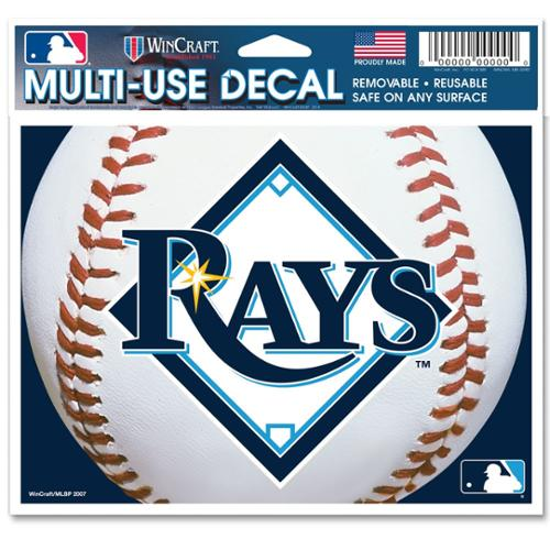 Tampa Bay Rays Official MLB 4 inch x 6 inch  Car Window Cling Decal by Wincraft