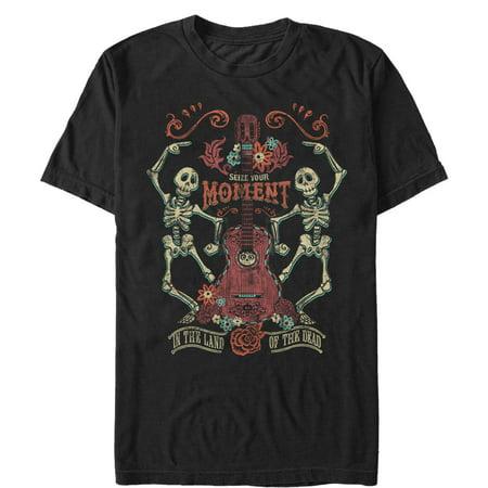 About Dance T-shirt - Coco Men's Seize Moment Skeleton Dance T-Shirt