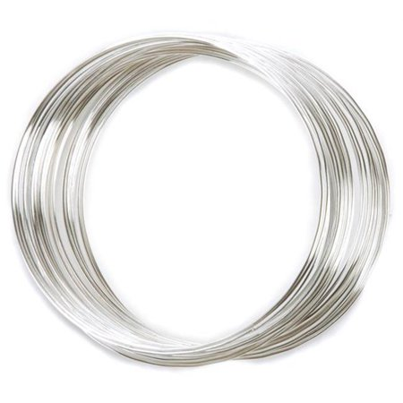 Silver Plated Memory Wire Bracelet .5 Oz/Pkg Czech Glass Memory Wire Bracelet