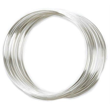 (Silver Plated Memory Wire Bracelet .5 Oz/Pkg)