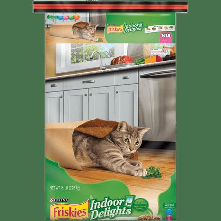 Friskies Indoor Dry Cat Food, Indoor Delights - 16 lb.
