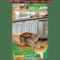 Friskies Indoor Dry Cat Food, Indoor Delights - 16 lb. Bag