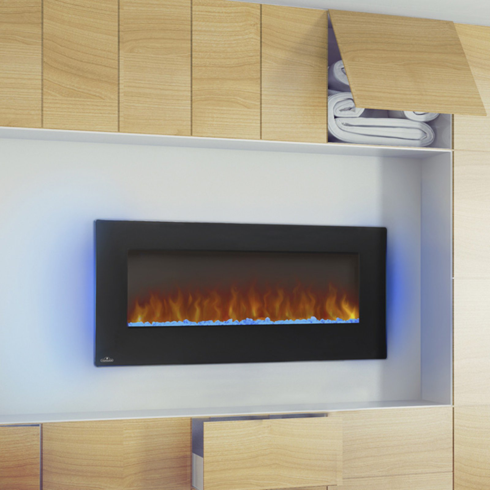 Belham Living 42 in. Electric Wall Mount Fireplace