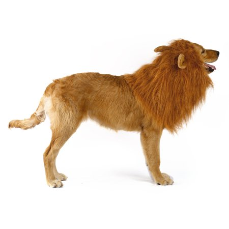 Pet Costume Dog Lion Wigs Mane Hair Scarf Clothes Festival Party Halloween