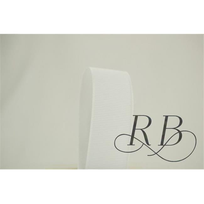 Ribbon Bazaar 874 1.5 in. Solid Grosgrain Ribbon, White - 50 Yards