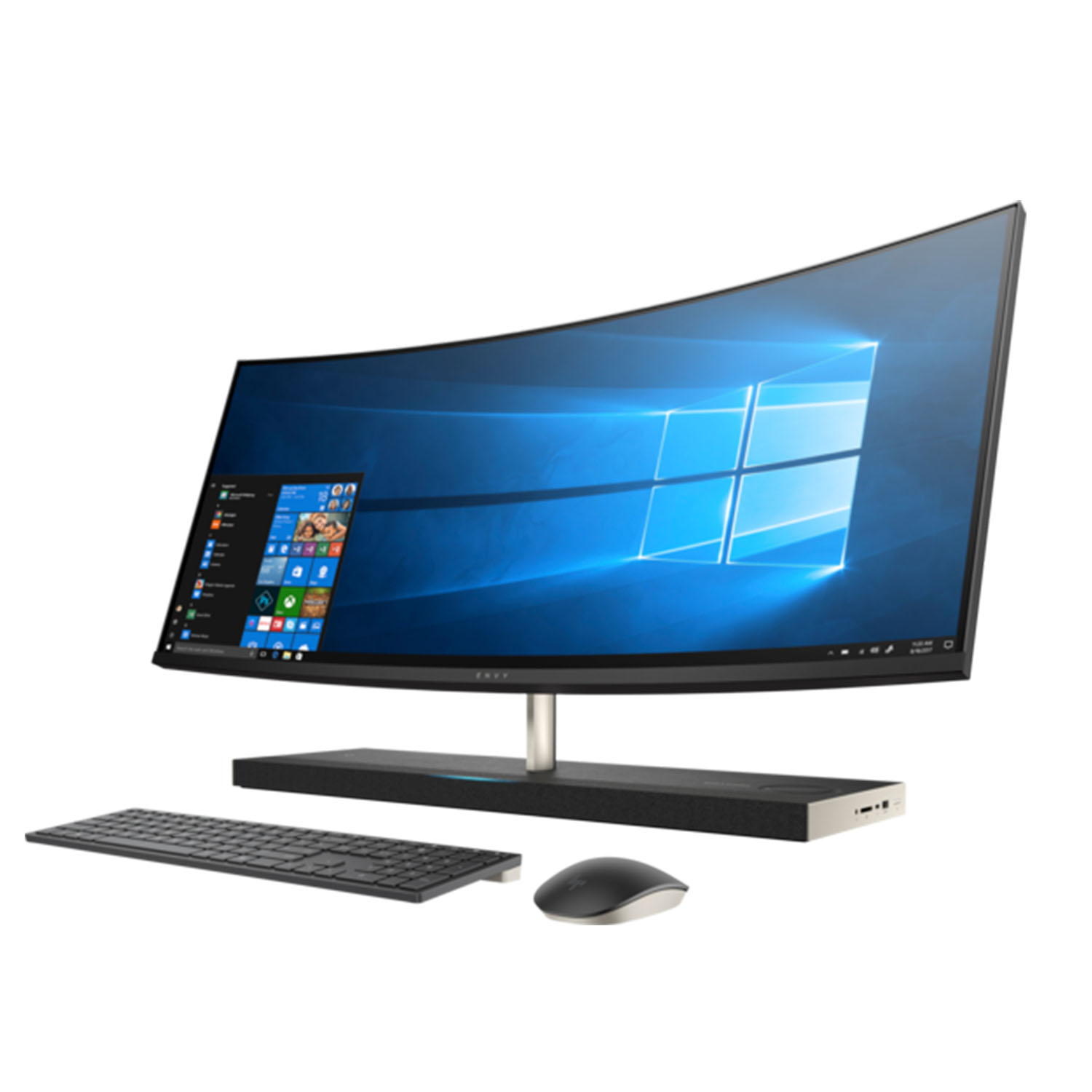 HP Envy 34 Curved Premium All-in-One AIO Desktop (Intel 8th Gen i7-8700T 6-Core, 16GB RAM, 1TB HDD + 256GB PCIe SSD, GeForce GTX 1050 4GB, 34 inch Curved QHD 3440 x 1440, WiFi, Bluetooth, Win 10 Home)