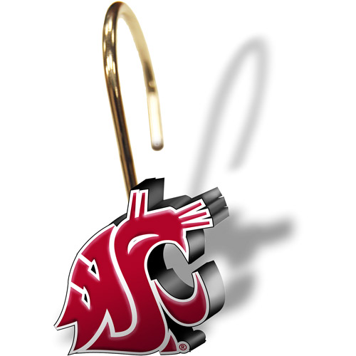 NCAA Washington State Cougars Shower Curtain Rings, Set of 12