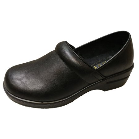 53662e62d59 Savvy Women s Brandy Black Smooth Slip Resistant Nursing   Workwear Slip On  Clog Size  6.5