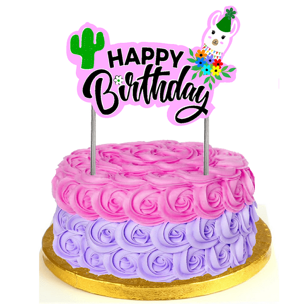 Admirable No Drama Llama Happy Birthday Cake Decoration Banner Cake Topper Funny Birthday Cards Online Barepcheapnameinfo