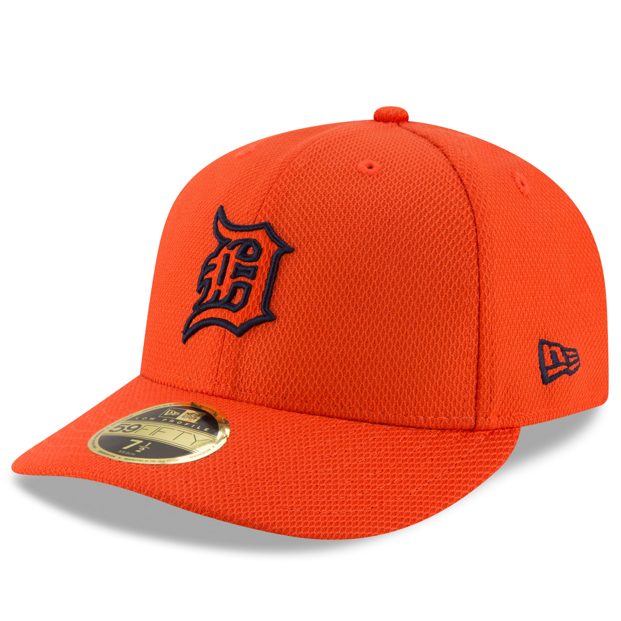 Detroit Tigers New Era Diamond Era 59FIFTY Low Profile Fitted Hat - Orange