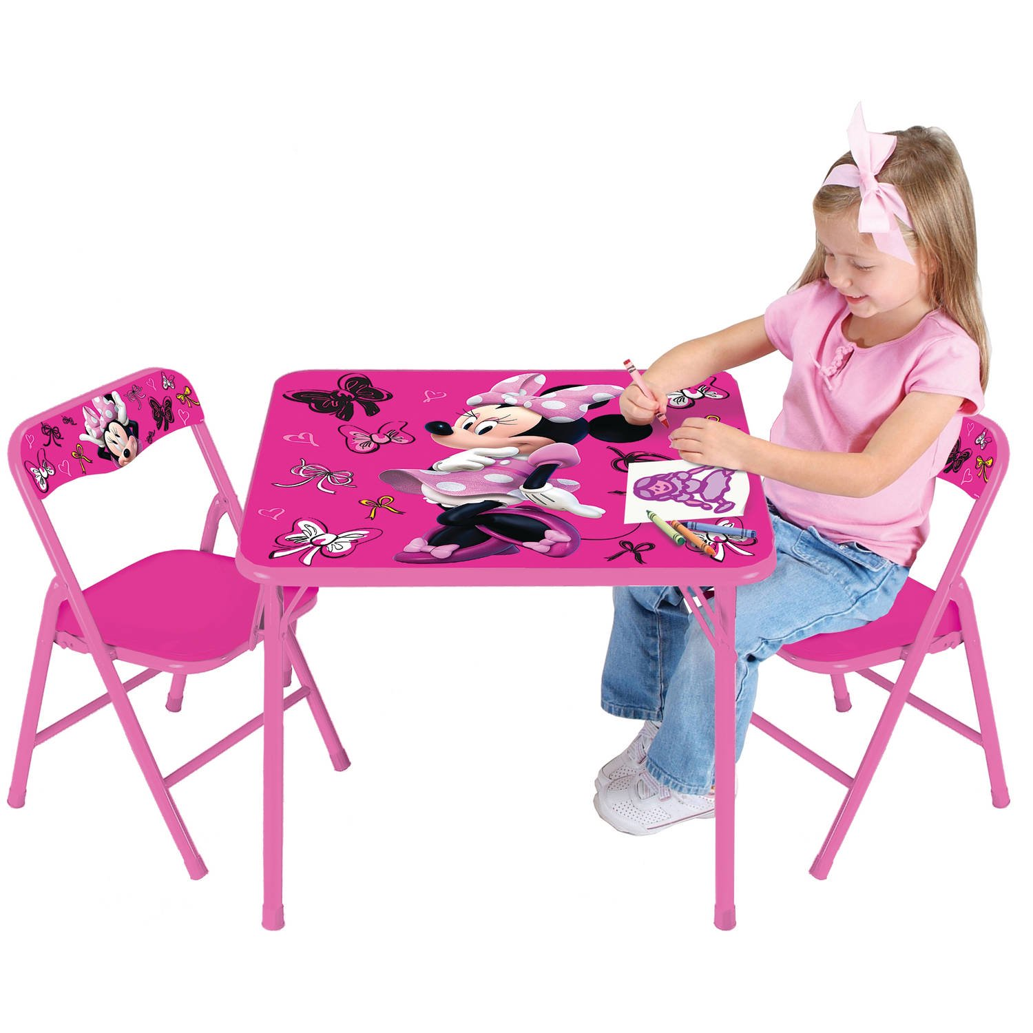 Gentil Disney Minnie Mouse First Fashionista Activity Table Set