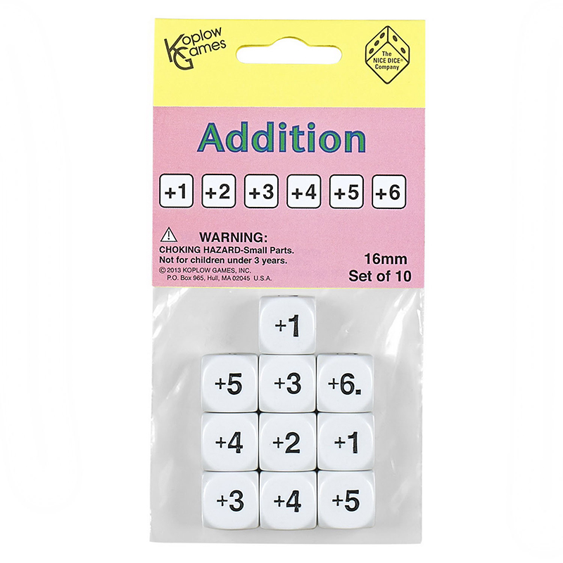 ADDITION DICE SET OF 10